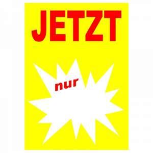 10 Plakate DIN A4 gelb rot Jetzt nur mit Textfeld