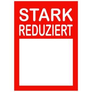 10 Plakate DIN A4 rot weiss Stark reduziert mit Textfeld