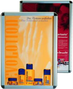Wandplakatrahmen Alu-Klemmrahmen DIN A1 80x60 cm silberfarbig eloxiert