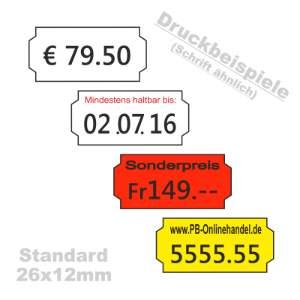 Etiketten Standard 26x12mm