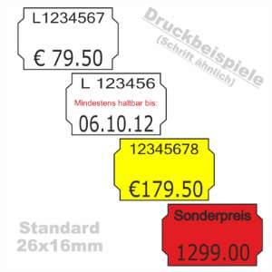 Etiketten Standard 26x16mm