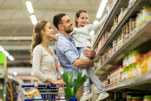 Gleichmaessige Waerme im Supermarkt
