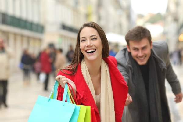 Shoppen attraktive Freizeitbeschaeftigung