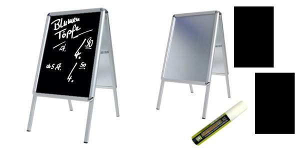 gehwegaufsteller-alu-din-a1-84x60cm-schwere-ausfuehrung-12-kg-set-aussenbereich Einkaufserlebnis Einzelhandel