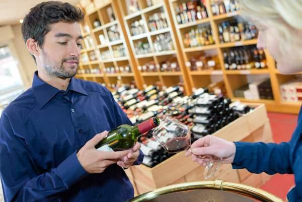 Kostenlose Weinprobe im Shop