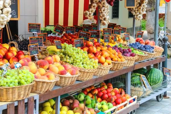 Preisauszeichnung fuer Obst und Gemuese