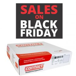"Contact-Etiketten 37x28mm rechteckig ""SALES ON BLACK FRIDAY"" permanent"